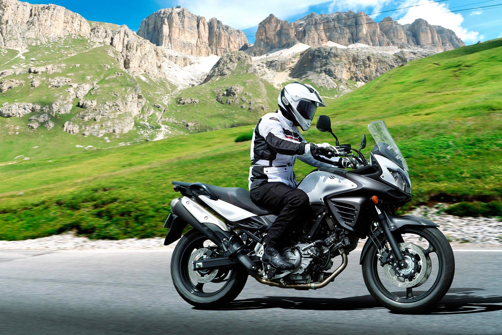 Suzuki V-Strom 650 beginner motorbike