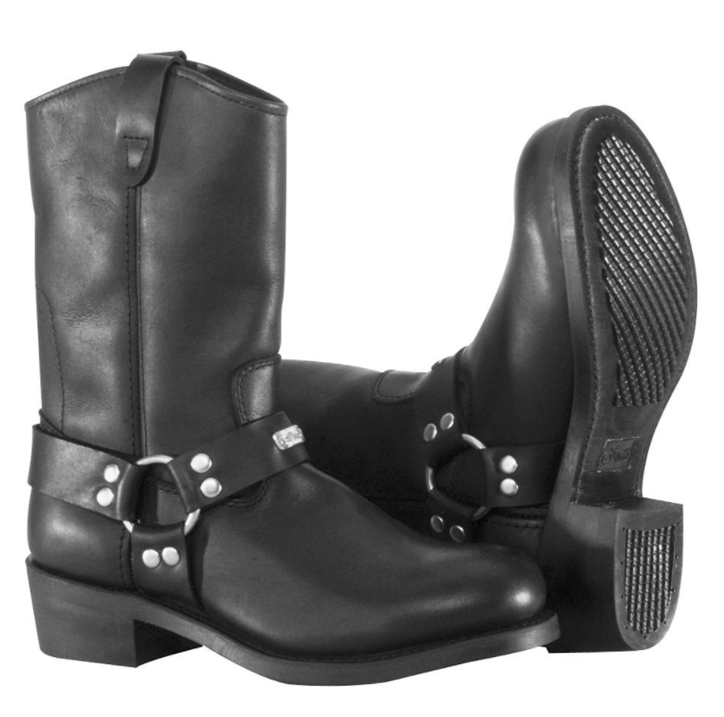 River Road Mens Ranger Harness Motorcycle Boots