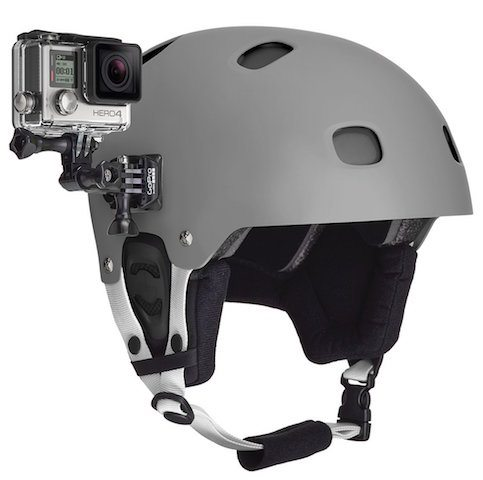 mounting the camera to my helmet.