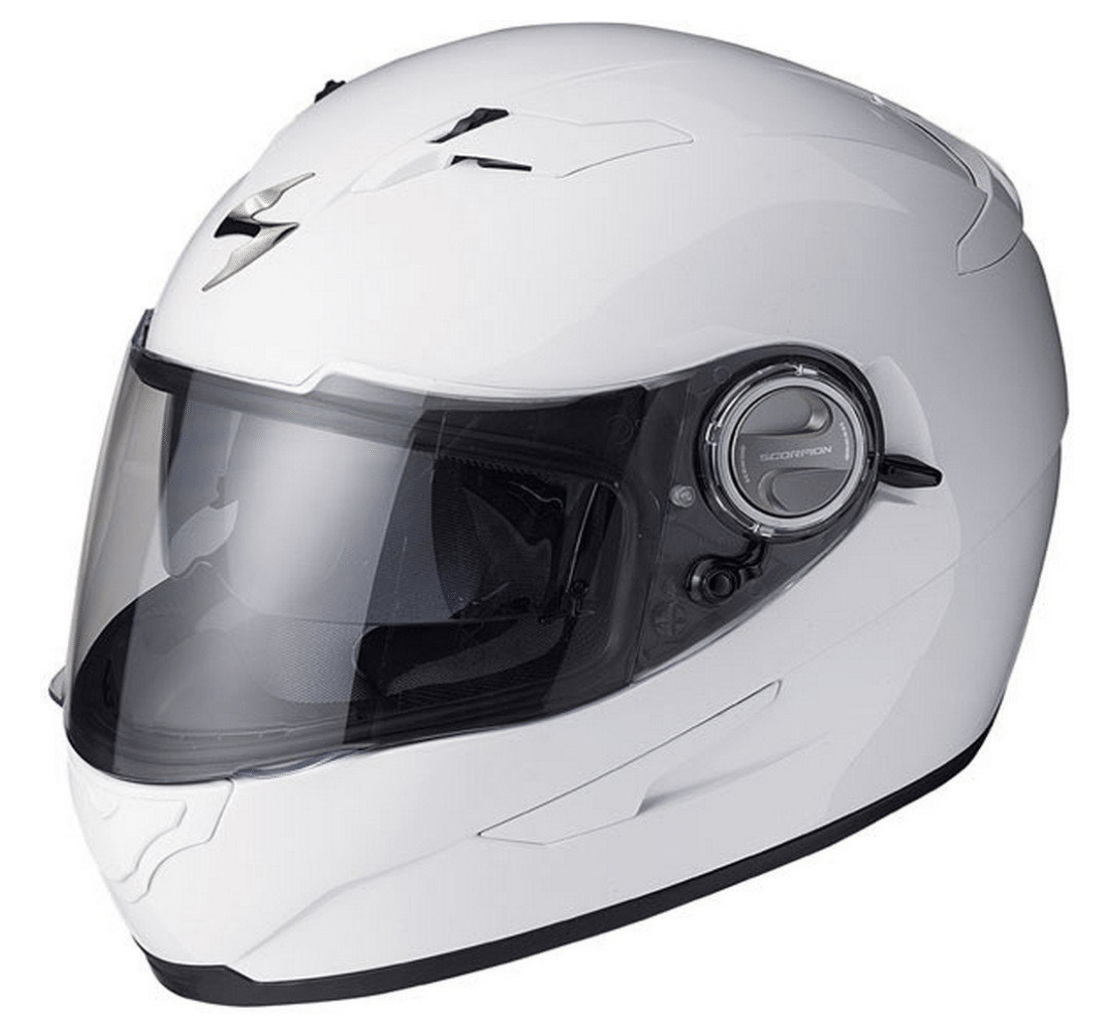 Scorpion EXO-500 Solid White Full Face Helmet