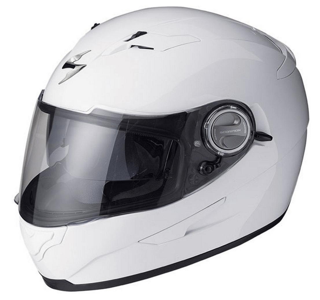 Scorpion EXO-500 Solid White Full Face Helmet