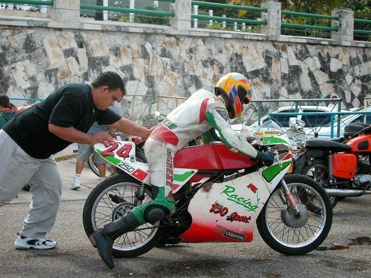 Push Start a Motorcycle