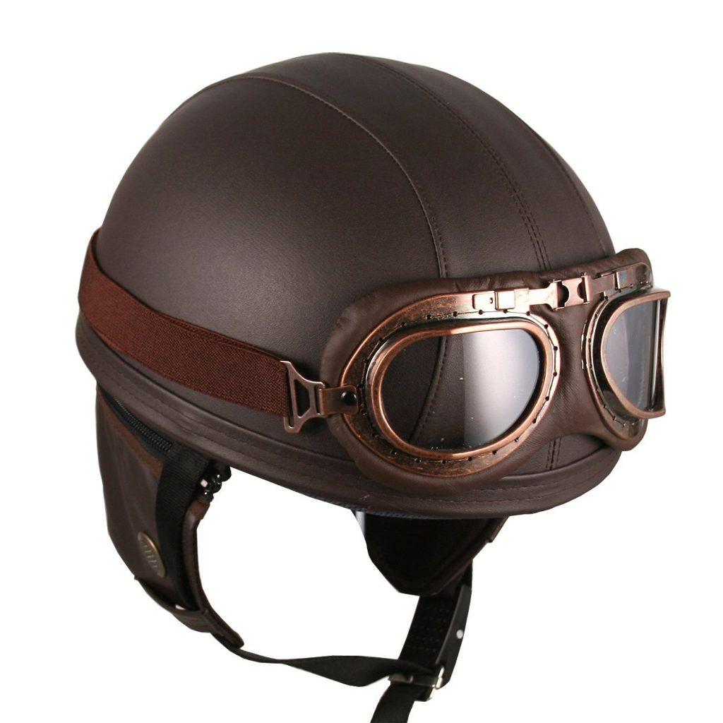 Vintage German Style Half Helmet