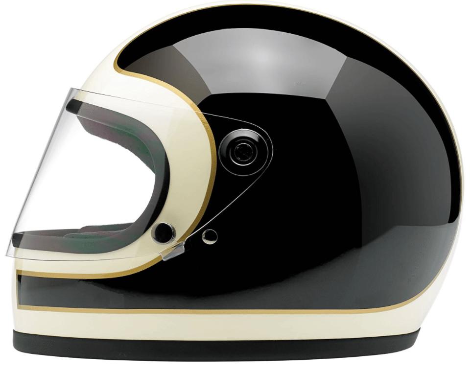 Biltwell Gringo S Le Tracker Helmet (Gloss Black/Vintage White