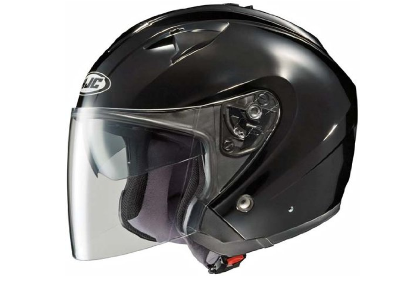 Black All Sizes HJC IS-33 II Open Face Motorcycle Helmet