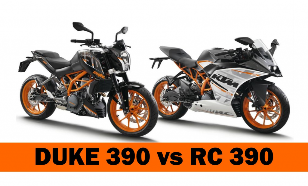 KTM 390 Duke and RC390