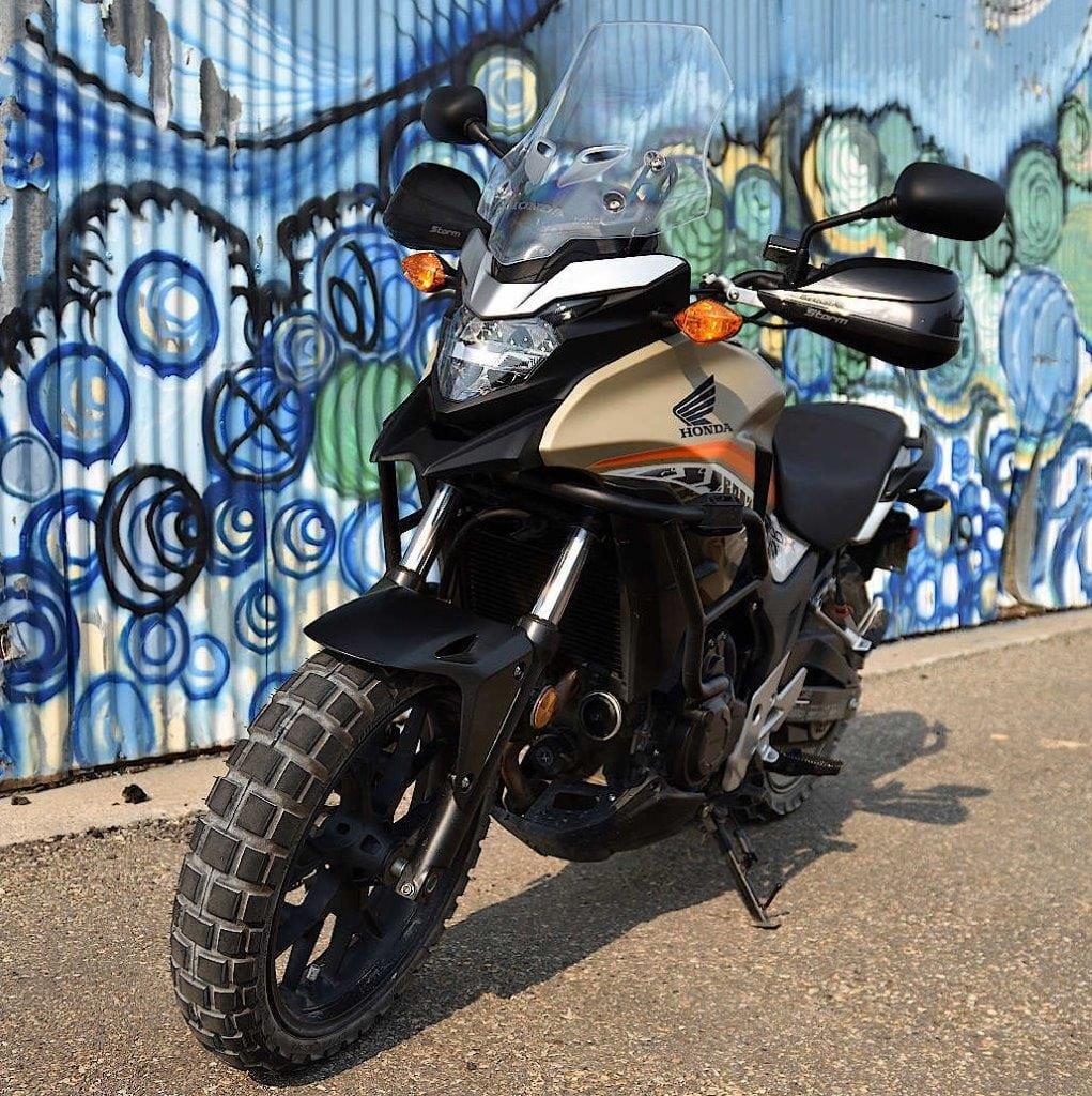 2016 Honda CB500X front left view.
