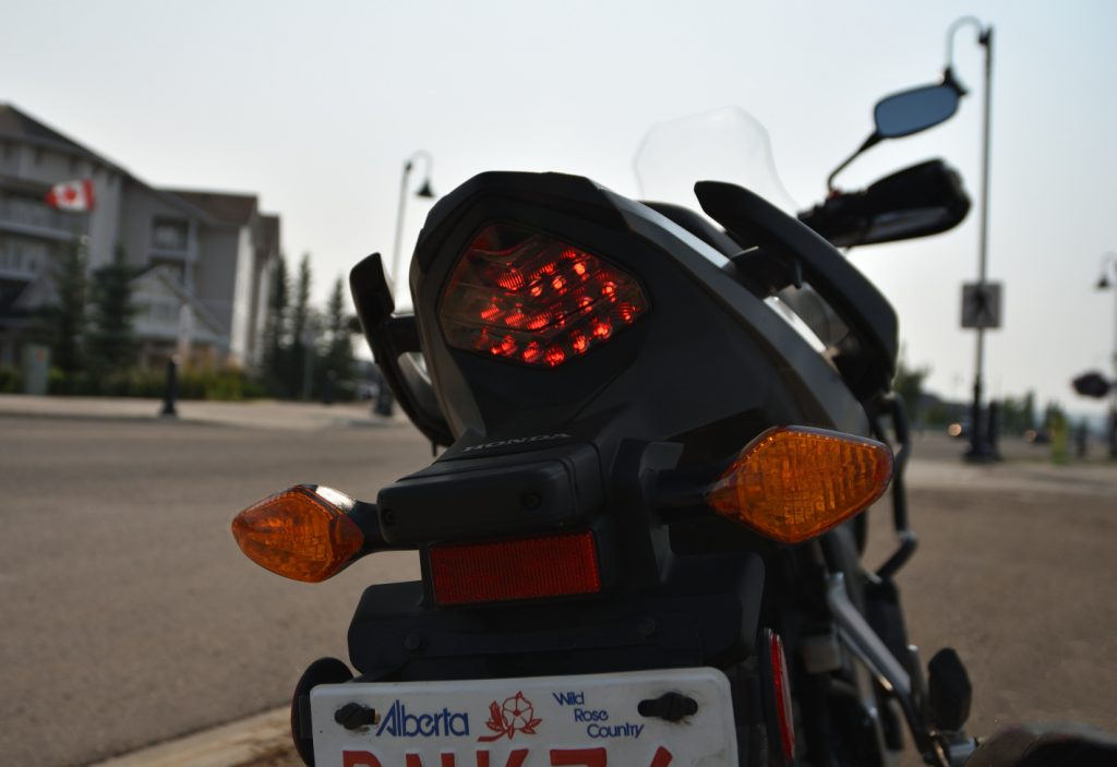 2016 Honda CB500X tailight and blinkers.