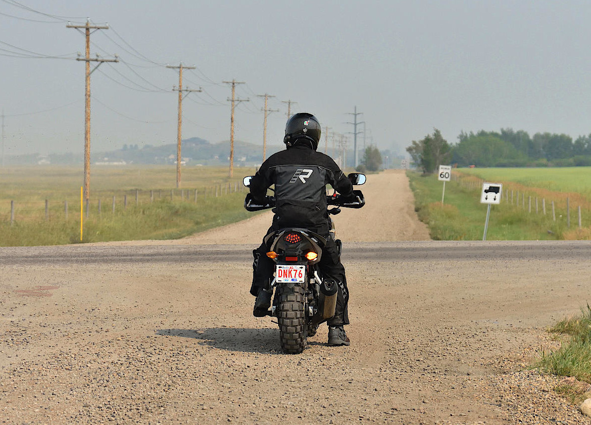 2016 Honda CB500X on a dirt road.