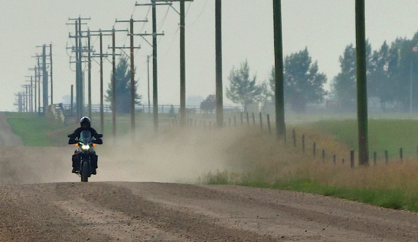 2016 Honda CB500X on a gravel road.