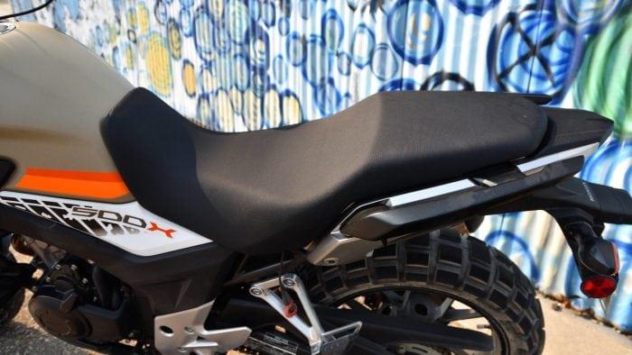 2016 Honda CB500X seat.