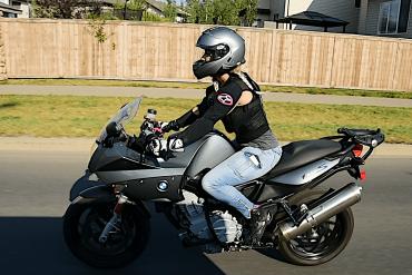 Jennifer Angelina riding around town