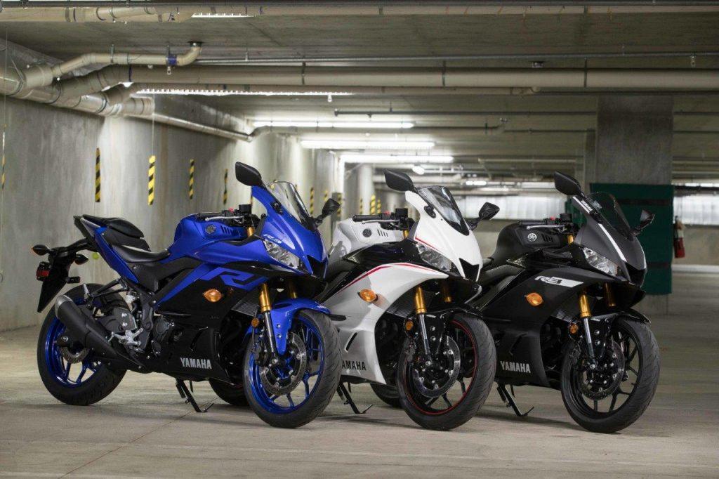 Blue, White, Black models for 2019 Yamaha YZF-R3