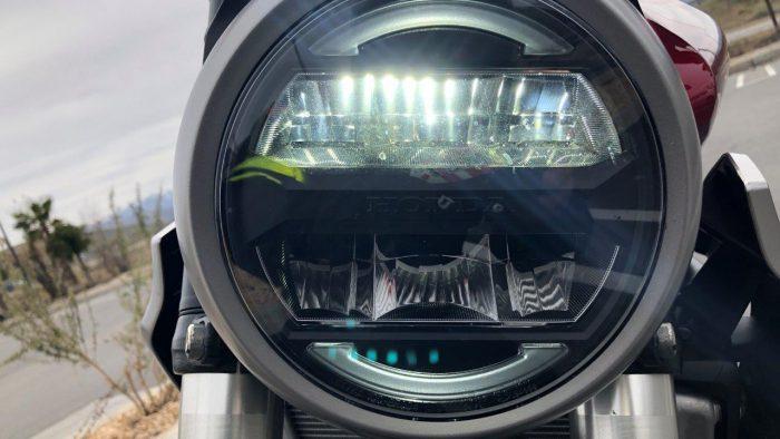 2019 Honda CB300R headlight.