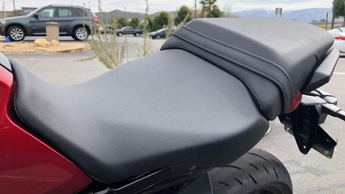 2019 Honda CB300R seat.