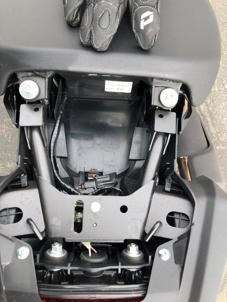 2019 Honda CB300R under seat storage.