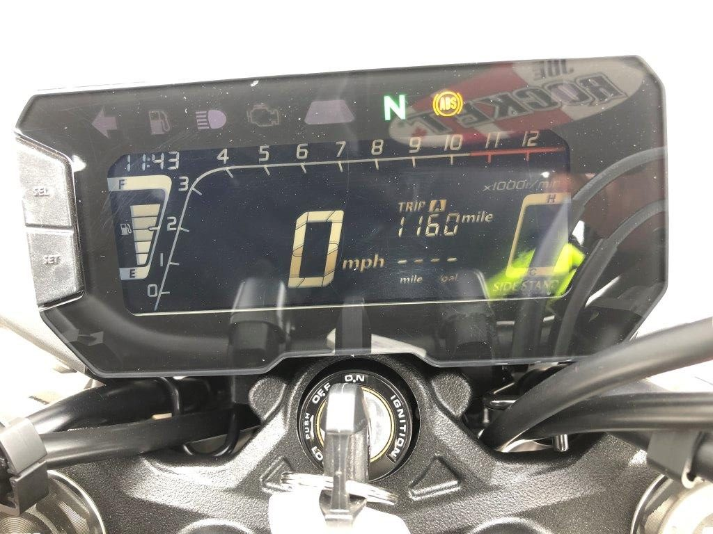 2019 Honda CB300R dash.