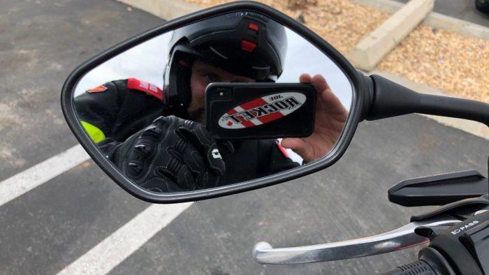 2019 Honda CB300R mirror.