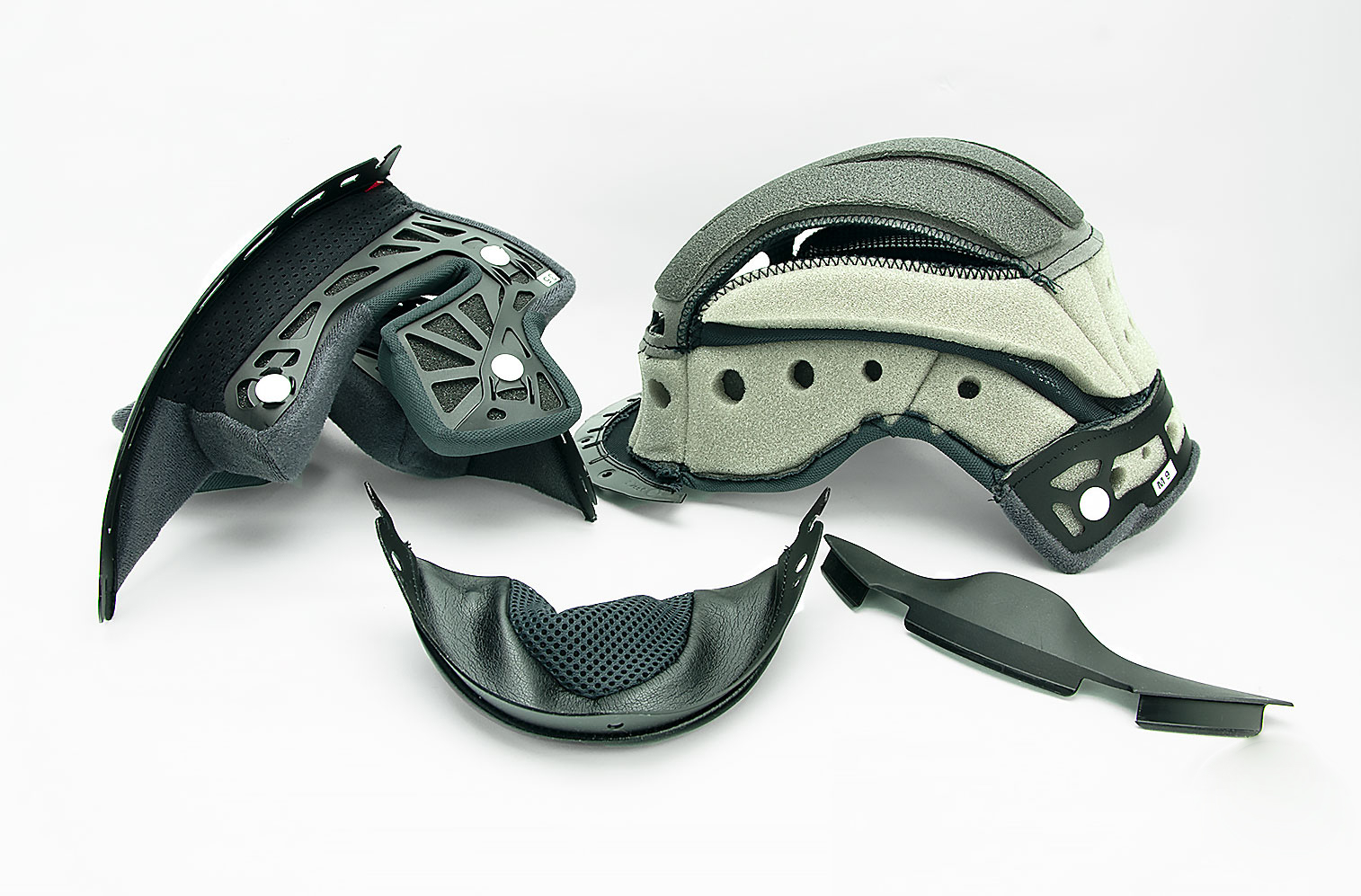 Shoei GT Air helmet liner and padding.