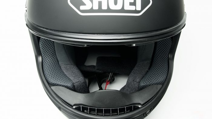 Shoei GT Air helmet anti fog venting.