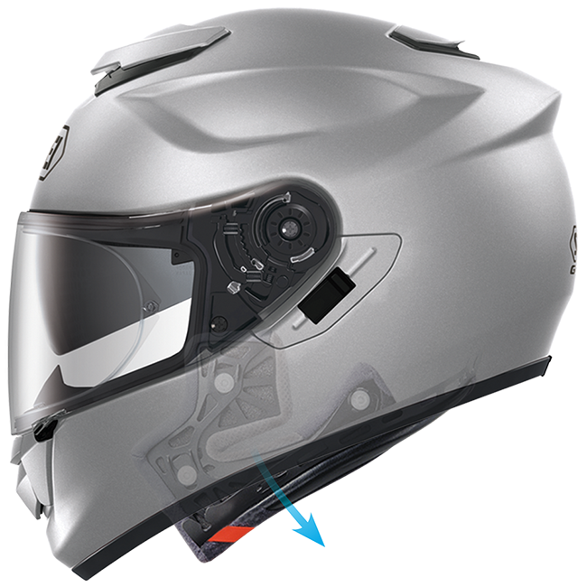 The EQRS Shoei feature on a GT Air helmet.