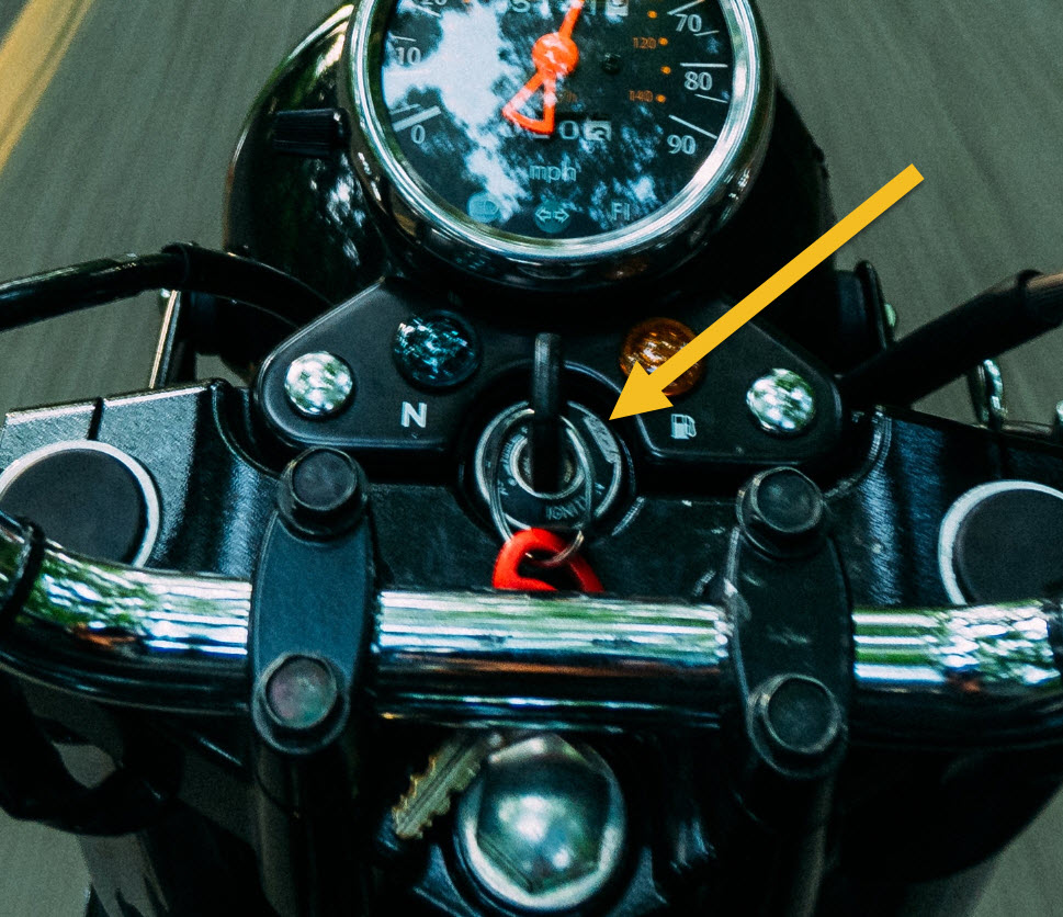 motorcycle ignition with key
