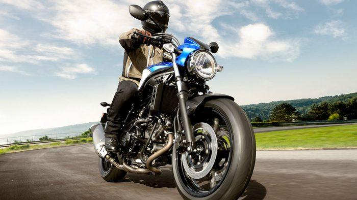 Rider taking a Suzuki SV650 for a ride