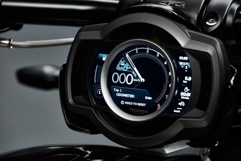 triumph digital motorcycle dash