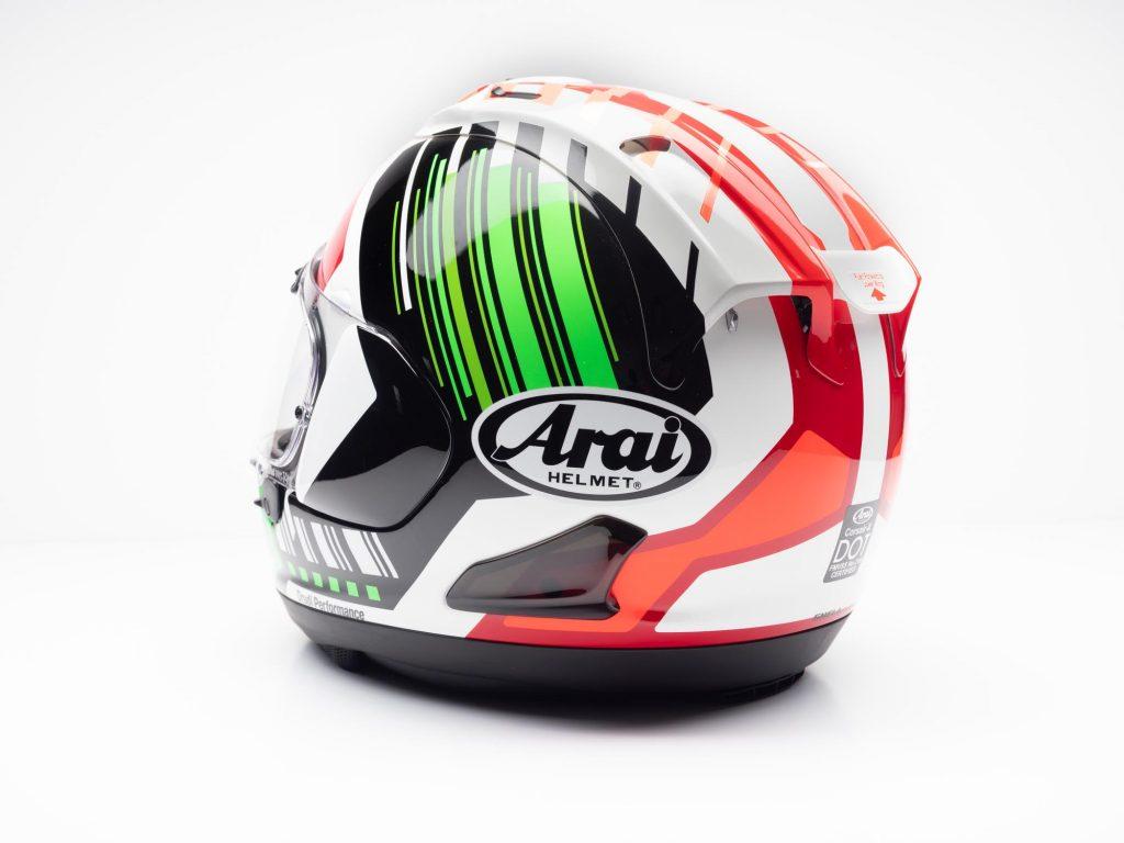 Arai Corsair-X Helmet rear view