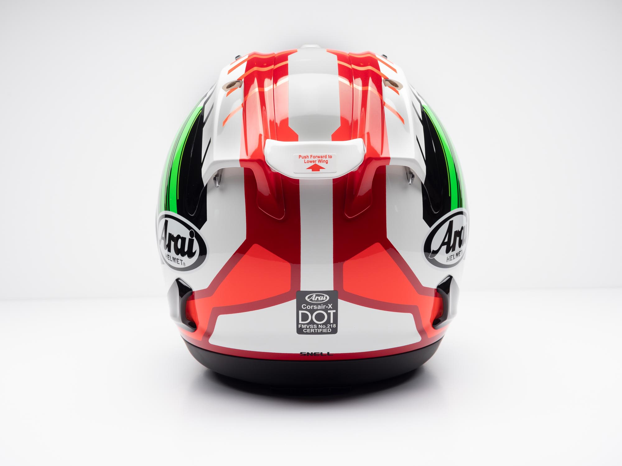 Arai Corsair-X Helmet back view
