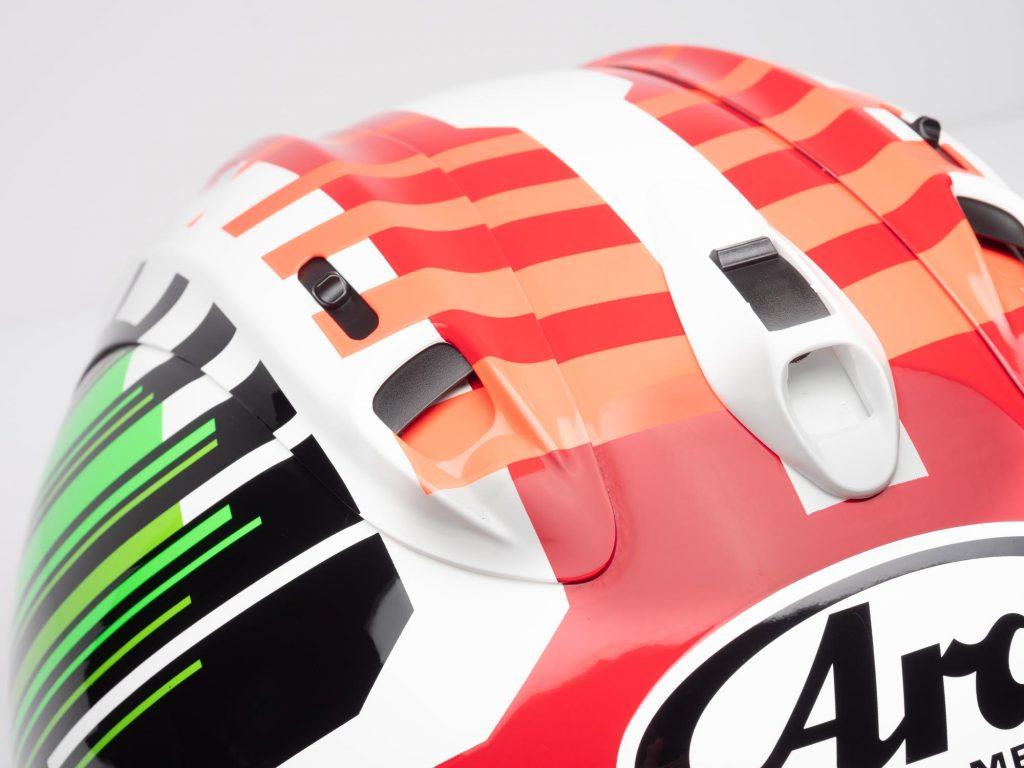 Arai Corsair-X Helmet top vents