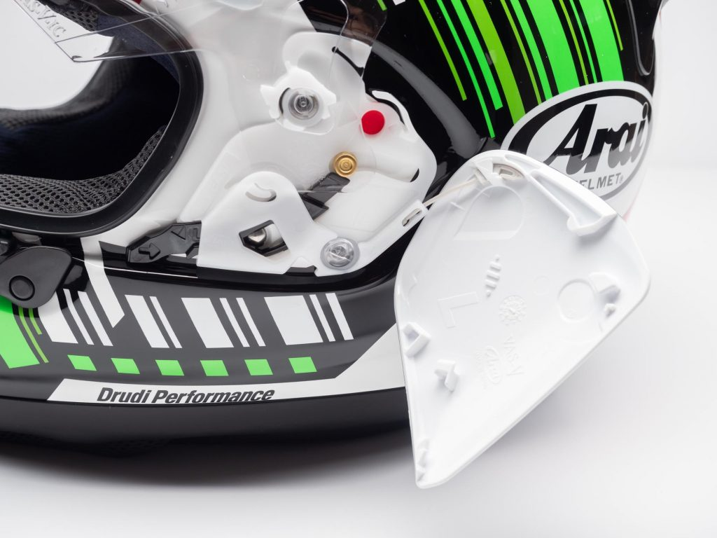 Arai Corsair-X Helmet side pods