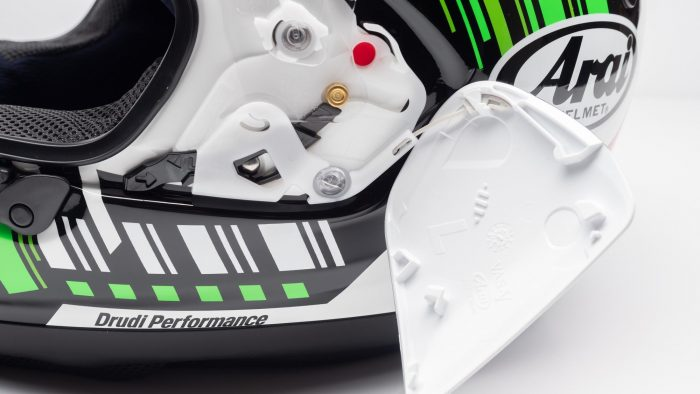 Arai Corsair-X Helmet side pods
