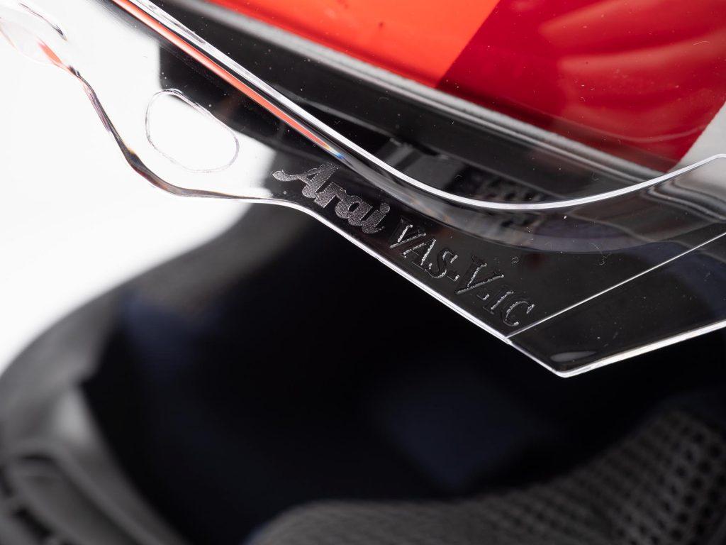 Arai Corsair-X Helmet visor system
