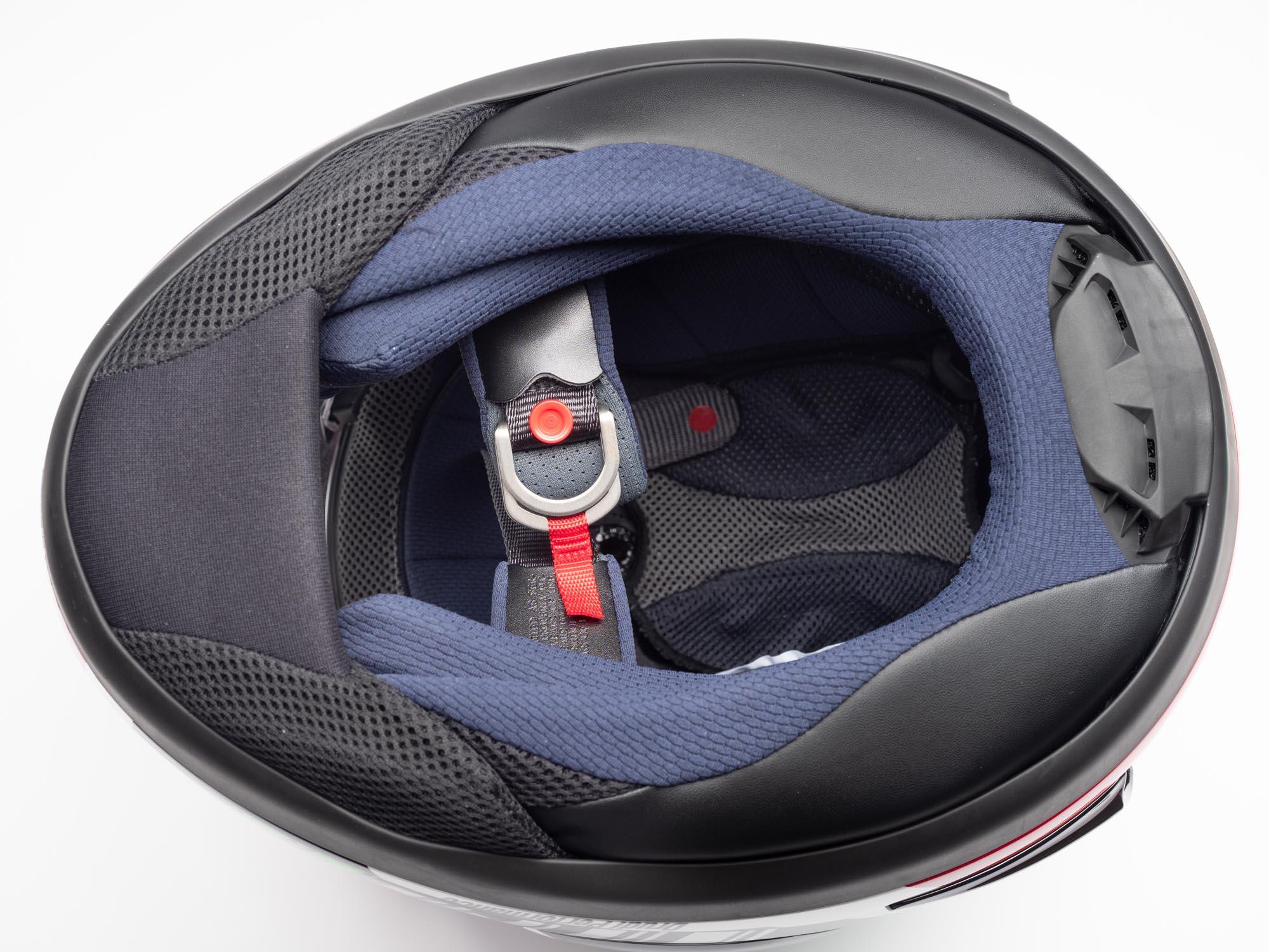 Arai Corsair-X Helmet interior