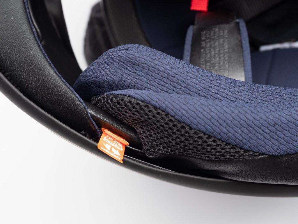 Arai Corsair-X Helmet emergency pull tab