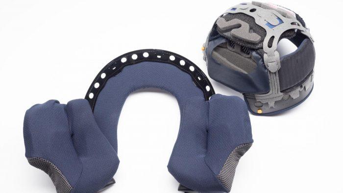 Arai Corsair-X Helmet interior removed