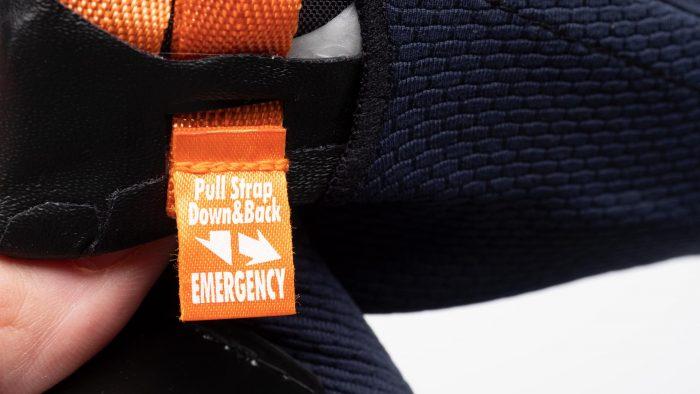 Arai Corsair-X Helmet emergency cheek pad removal tab