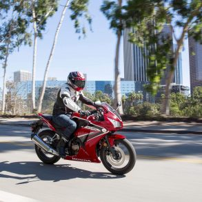 2020 Honda CBR300R in the city
