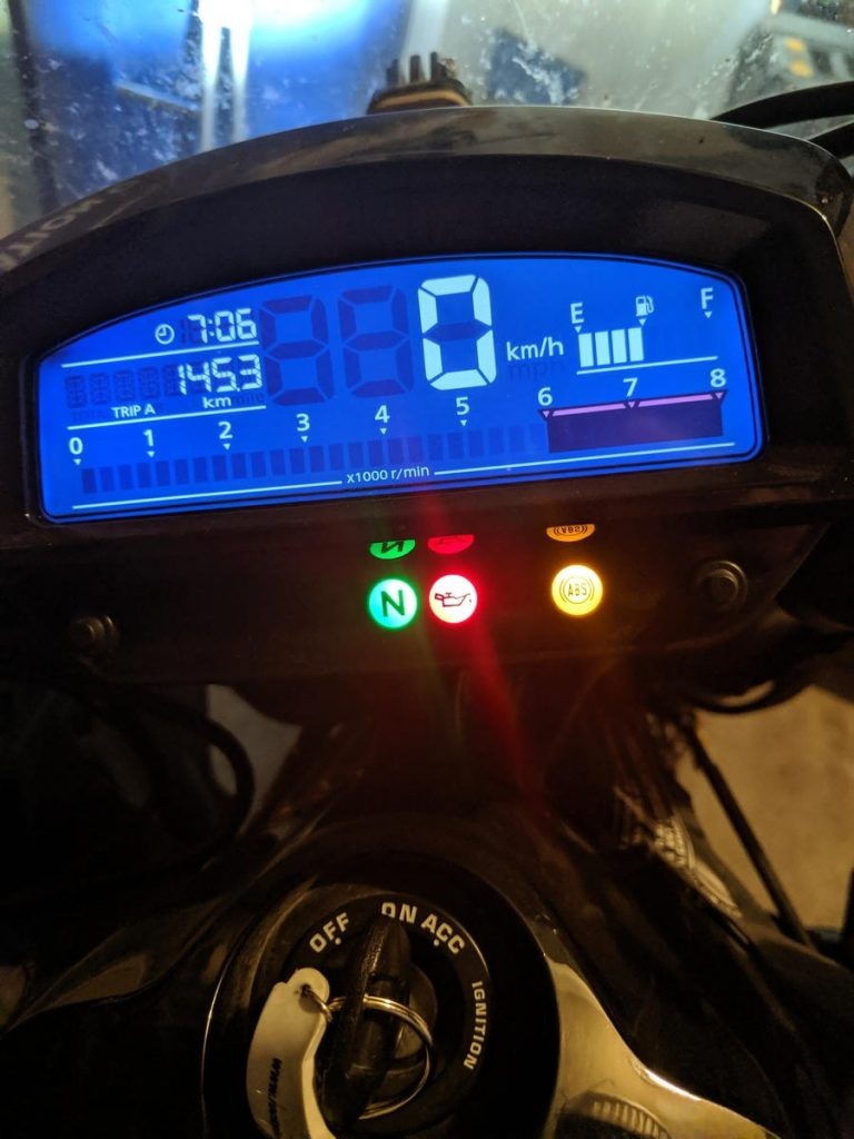 Motorcycle neutral light