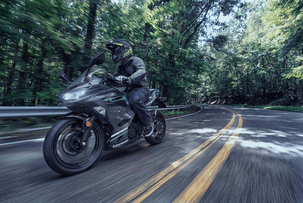 2020 Kawasaki Ninja 400 on road