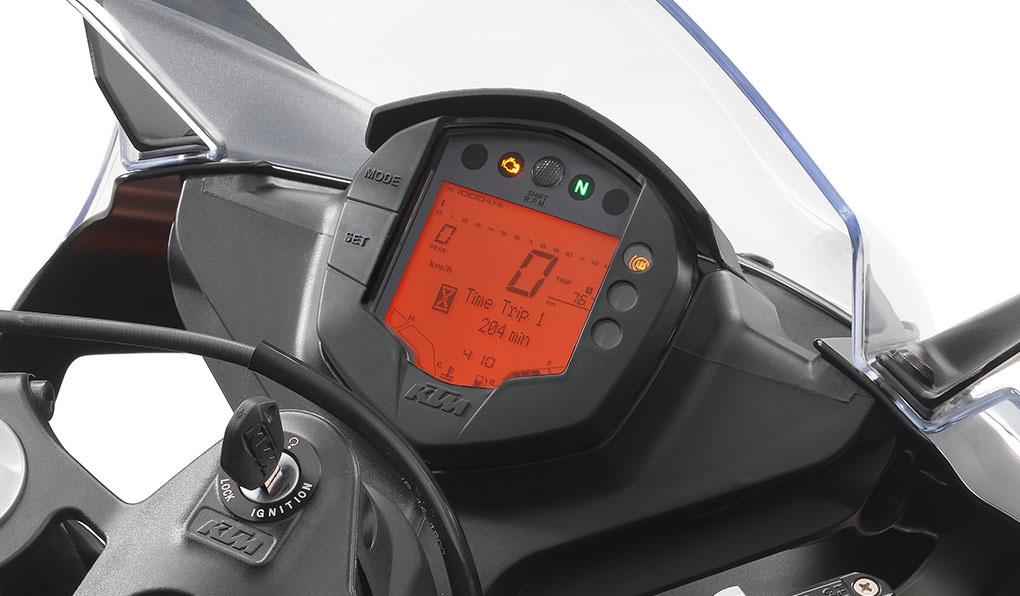 2020 KTM RC 390 dash