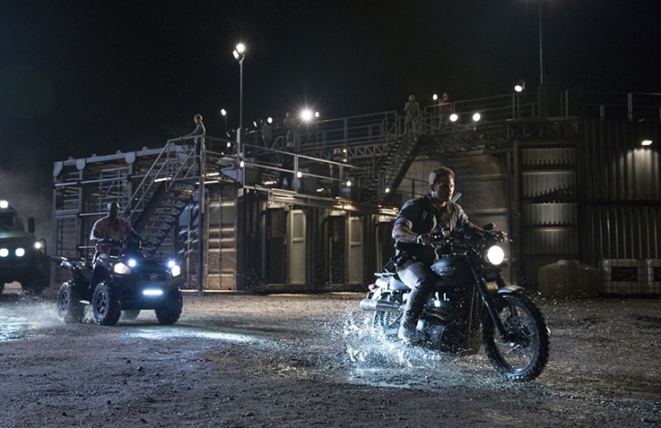 2014 Triumph Scrambler 900 from Jurassic World