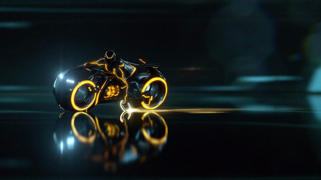 Clu's Lightcycle from TRON: Legacy