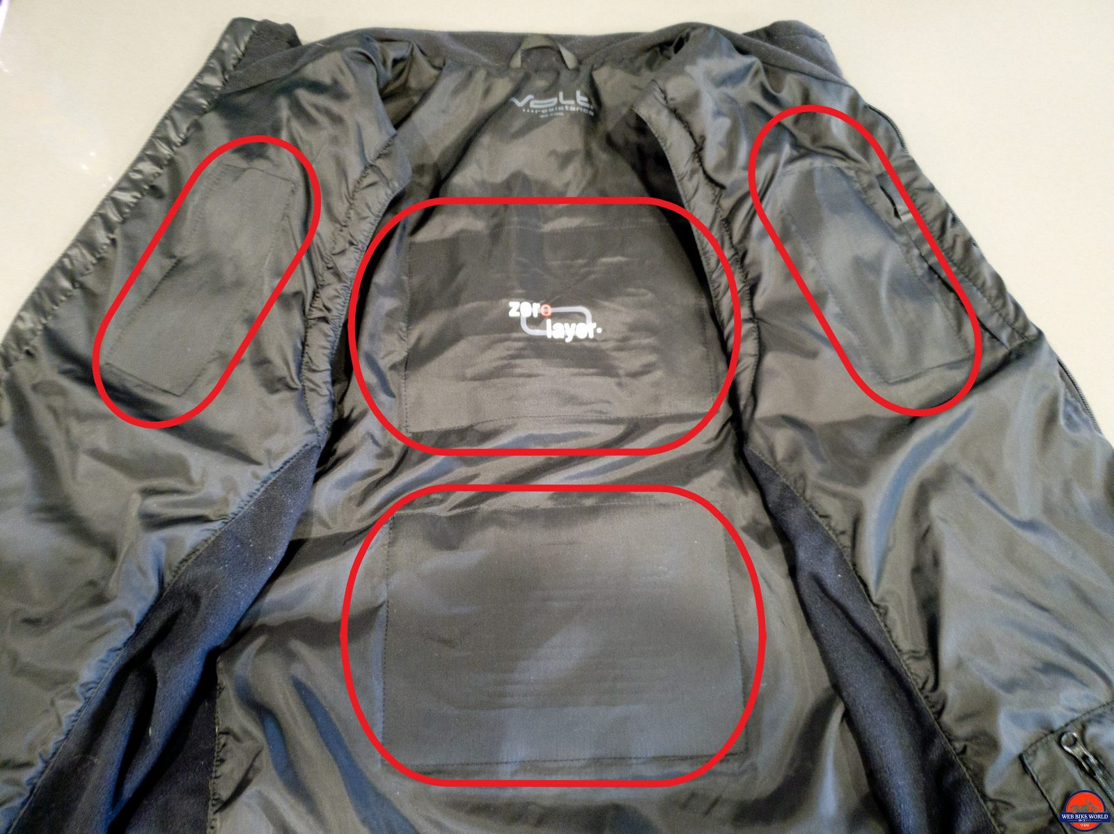 volt heat fusion vest heating zones