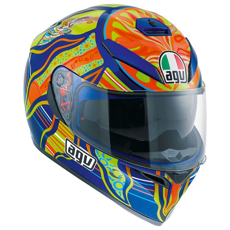 AGV K3 SV Five Continents Full Face Motorcycle Helmet