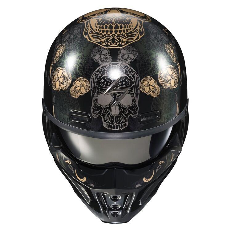 Scorpion EXO Covert X Kalavera Half Shell Full Face Motorcycle Helmet
