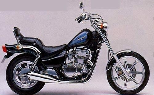 1990 Kawasaki Vulcan 500 Right Side View