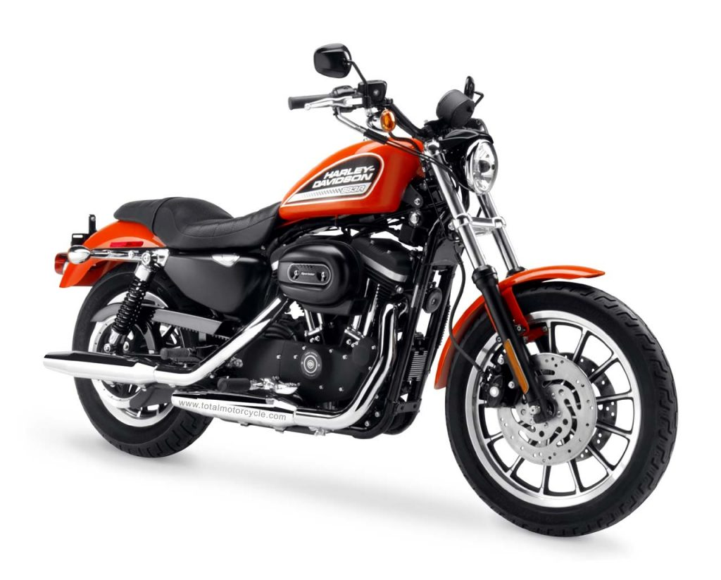 Harley Davidson Sportster 883 Roadster (XLH883R) Front and Side View