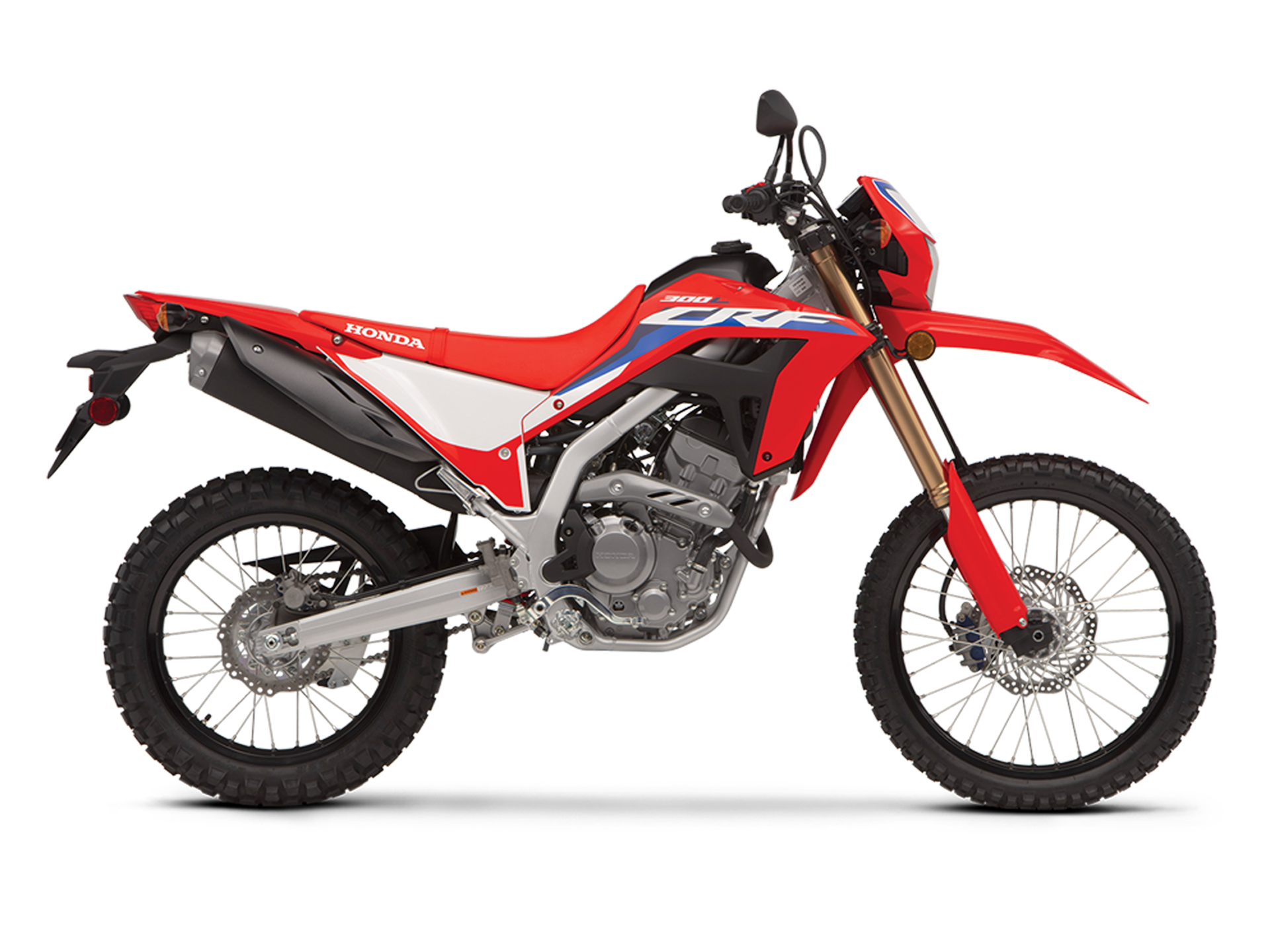 2020 Honda CRF250L Side View In Red